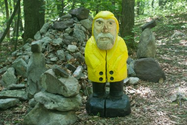 Captain Ahab of Ahab's Adventures on the Faerie Ring Path at Columcille Megalith Park in Pennsylvania 2015