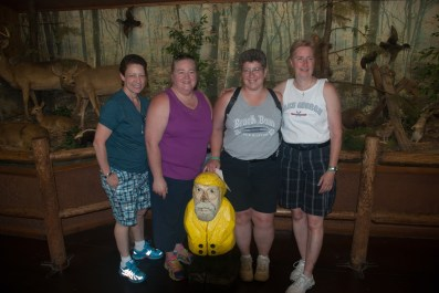 Captain Ahab of Ahab's Adventures met some awesome ladies waiting to get into Bushkill Falls in the Delaware Water Gap National Recreational Area of Pennsylvania 2015