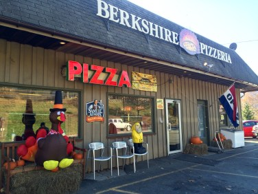 Captain Ahab of Ahab's Adventures at Berkshire Pizzeria in Charlemont Massachusetts along Route 2 2015