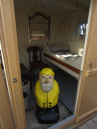 Captain Ahab of Ahab's Adventures visiting Mystic Seaport in Connecticut 2015