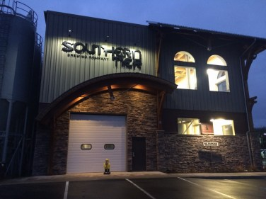Captain Ahab of Ahab's Adventures visiting Southern Tier Brewing Company after hours in Lakewood, New York 2016