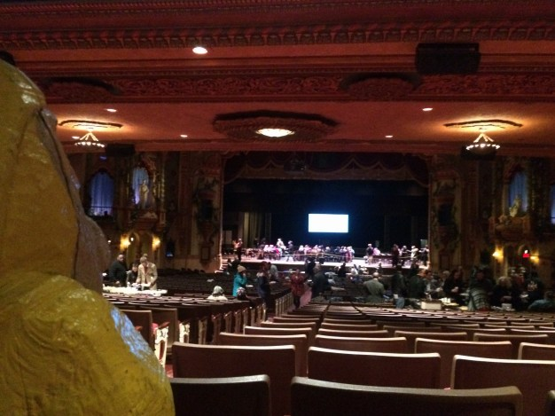 Captain Ahab of Ahab's Adventures speaking at the Akron Civic Theatre in Akron, Ohio 2016