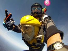 Captain Ahab of Ahab's Adventures skydiving with Brad at Jumptown in Orange Massachusetts 2016