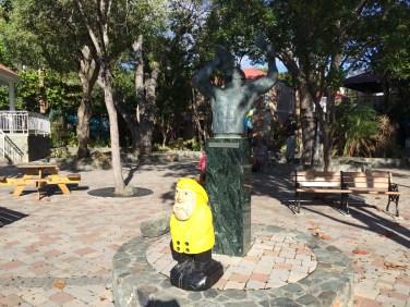 Captain Ahab of Ahab's Adventures hanging out in Cruz Bay in St. John U.S. Virgin Islands 2016