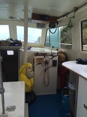Captain Ahab of Ahab's Adventures on the Sadie Sea in Great Lameshur Bay on St. John U.S. Virgin Islands 2016
