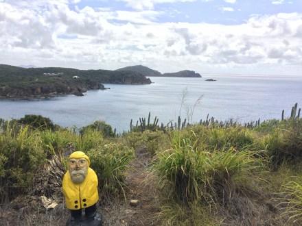 Captain Ahab of Ahab's Adventures hiking the Cabritte / Tektite Trail on St. John U.S. Virgin Islands 2016