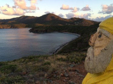Captain Ahab of Ahab's Adventures sunrise hike to Ram Head on St. John U.S. Virgin Islands 2016