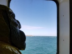 Captain Ahab of Ahab's Adventures on his way to a speaking event at Harbor View Hotel on Martha's Vineyard in 2016