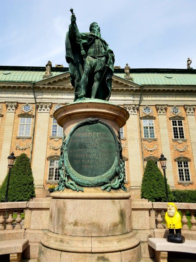 Captain Ahab of Ahab's Adventures outside Riddarhuset of Old Town in Stockholm Sweden 2016