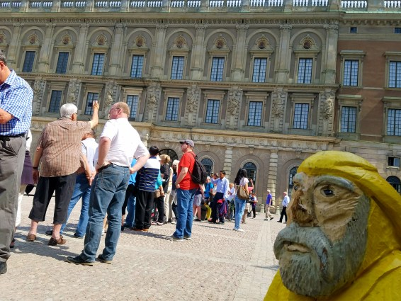 Captain Ahab of Ahab's Adventures viewing The Royal Palace in Stockholm Sweden 2016