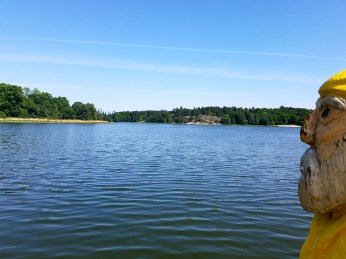 Captain Ahab of Ahab's Adventures admiring Haga Lake in Hagaparken in Stockholm Sweden 2016