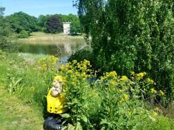 Captain Ahab of Ahab's Adventures admiring Haga Lake in Hagaparken in Stockholm Sweden 2016
