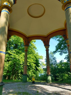Captain Ahab of Ahab's Adventures at The Chinese Pagoda inside Hagaparken in Stockholm Sweden 2016