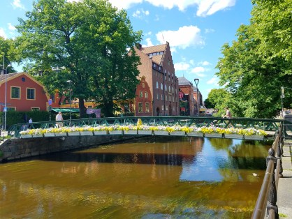 Captain Ahab of Ahab's Adventures walking around Uppsala Sweden 2016