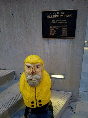 Captain Ahab of Ahab's Adventures at Millennium Park in Chicago Illinois 2016