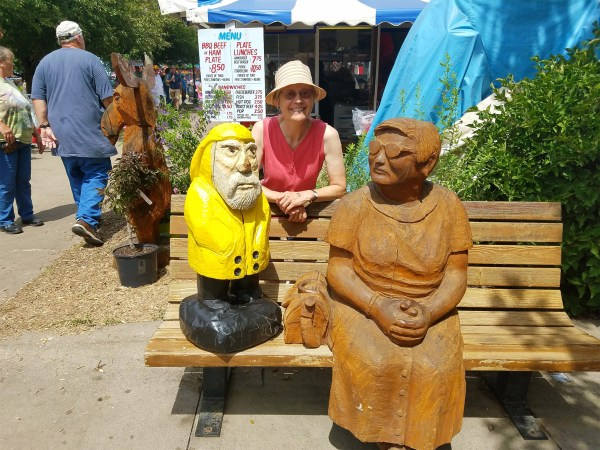 Captain Ahab of Ahab's Adventures making new friends at the Iowa State Fair 2016