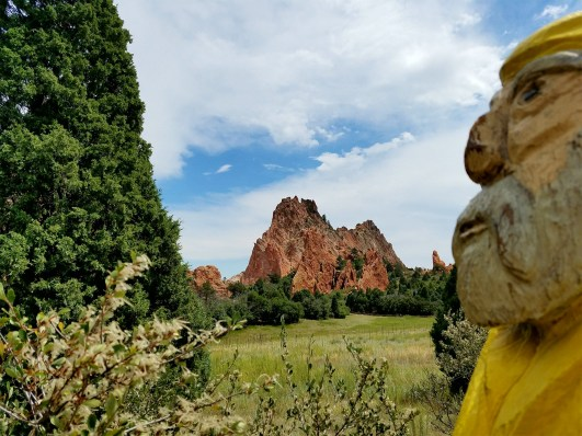 Captain Ahab of Ahab's Adventures hiking around the Garden of the Gods in Colorado Springs 2016