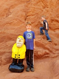 Captain Ahab of Ahab's Adventures making new friends in the Garden of the Gods in Colorado Springs 2016