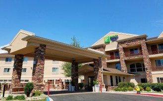 Special Cheers to the Holiday Inn Express of Gunnison for being a very Lawn Gnome Friendly establishment... stop in, say hello and stay anytime you are in the area!!