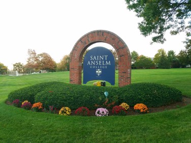 Captain Ahab of Ahab's Adventures exploring campus at Saint Anselm College New Hampshire 2016