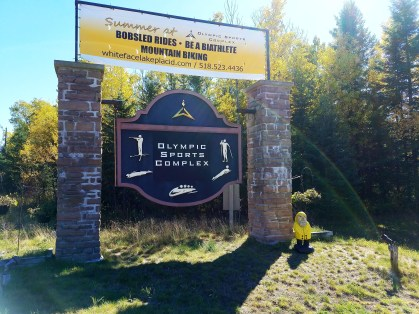 Captain Ahab of Ahab's Adventures stopping by the Olympic Sports Complex in Adirondack Park New York 2016