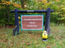 Captain Ahab of Ahab's Adventures at Laughing Whitefish Falls in the Upper Peninsula Michigan 2016