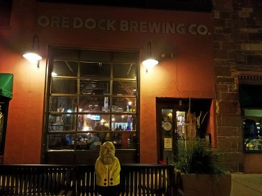 Captain Ahab of Ahab's Adventures making new friends at the Ore Dock Brewery Company in Marquette Michigan 2016