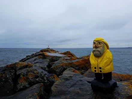 Captain Ahab of Ahab's Adventures exploring Presque Isle Park in Marquette Michigan 2016