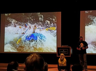 Captain Ahab of Ahab's Adventures presenting at Northern Michigan University in Marquette Michigan 2016