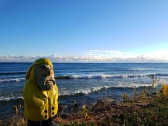 Captain Ahab of Ahab's Adventures enjoying Lake Superior Michigan 2016