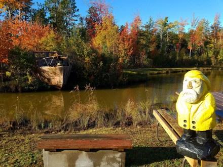 Captain Ahab of Ahab's Adventures exploring Lakenenland Sculpture Park Marquette Michigan 2016