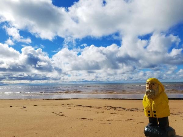 Captain Ahab of Ahab's Adventures enjoying Lake Michigan Michigan 2016