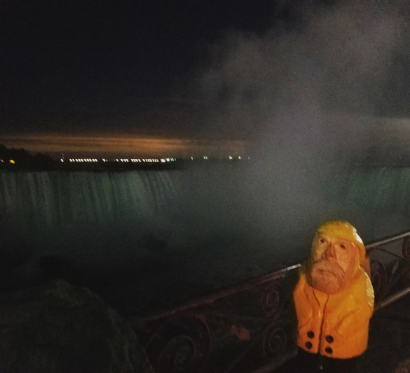 Captain Ahab of Ahab's Adventures seeing Niagara Falls from the Canadian side 2016