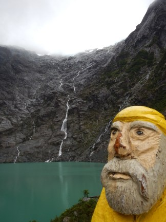 Captain Ahab of Ahab's Adventures at the Lagoon of the Gnomes in Queulat National Park Chile 2017