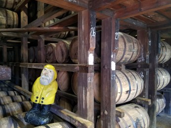 Captain Ahab of Ahab's Adventures enjoying the distillery tour at Bulleit in Louisville Kentucky 2017