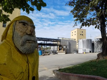 Captain Ahab of Ahab's Adventures exploring what isn't under construction at Four Roses distillery in Lawrenceburg Kentucky 2017