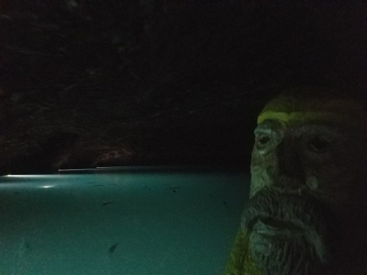Captain Ahab of Ahab's Adventures venturing at The Lost Sea in Sweetwater Tennessee 2017