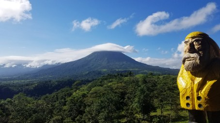 Captain Ahab of Ahab's Adventures admiring the many hats of Volcan Arenal in Costa Rica 2018