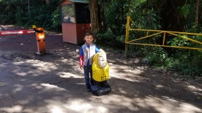 Captain Ahab of Ahab's Adventures making new friends at the Monteverde Cloud Forest Biological Reserve Costa Rica 2018