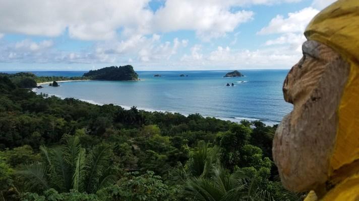 Captain Ahab of Ahab's Adventures enjoying the view at Hotel Costa Verde in Manuel Antonio Costa Rica 2018