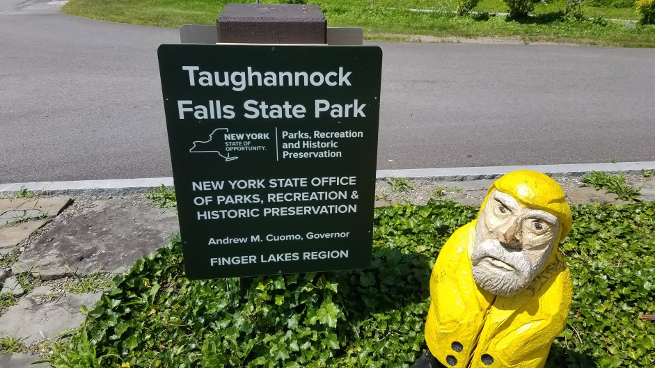 Captain Ahab of Ahab's Adventures checking out Taughannock Falls State Park 2019