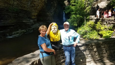 Captain Ahab of Ahab's Adventures adding to his crew at Watkins Glen State Park New York 2019