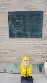 Captain Ahab of Ahab's Adventures planning his barrel ride at Niagara Falls 2019