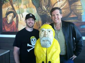 Captain Ahab of Ahab's Adventures with Thom Singer having coffee in Austin Texas 2013