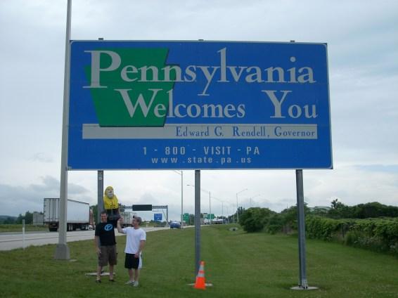 Captain Ahab of Ahab's Adventures entering Pennsylvania 2009
