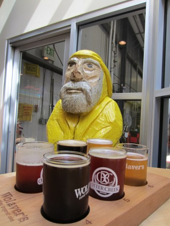 Captain Ahab of Ahab's Adventures at Otter Creek Brewing checking off his Vermont Brewery Passport 2011