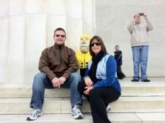 Captain Ahab of Ahab's Adventures at the Jefferson Memorial in Washington D.C. 2011