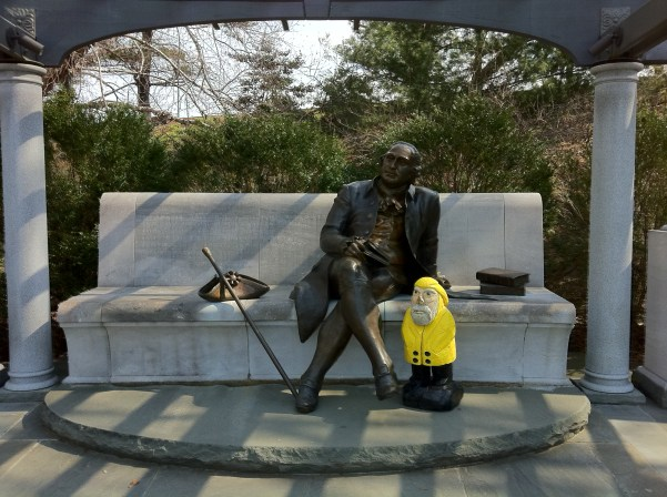Captain Ahab of Ahab's Adventures at the George Mason Memorial in Washington D.C. 2011
