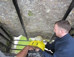 Captain Ahab of Ahab's Adventures kissing the Blarney Stone in Ireland 2014