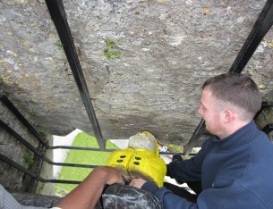 Captain Ahab of Ahab's Adventures kissing the Blarney Stone in Ireland 2014
